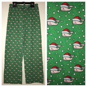Vineyard Vines lounge pants, green Christmas theme